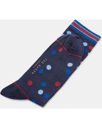 Ted Baker - Spot Pattern Cotton Socks - Lyst