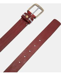 Ted Baker - Striped Tab Leather Belt - Lyst