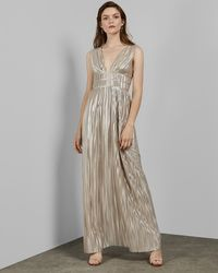 453d0e774e Ted Baker Open Back Bow Maxi Dress in White - Lyst