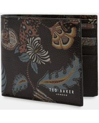 Ted Baker - Printed Leather Bi-fold Wallet - Lyst