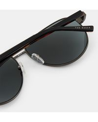 94c0b5e6f2 Lyst - Ted Baker Round 48mm Acetate Frame Sunglasses in Brown for Men