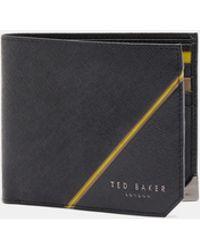 Ted Baker - Corner Detail Leather Bi-fold Wallet - Lyst
