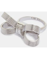Ted Baker - Textured Loop Bow Ring - Lyst