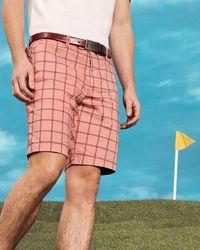 Ted Baker - Golf Golfshr Checked Shorts - Lyst