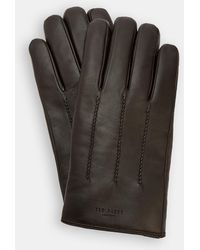 Ted Baker - Leather Wool-lined Gloves - Lyst
