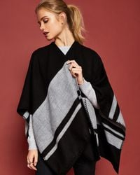 Ted Baker - Stairway Striped Blanket Cape - Lyst