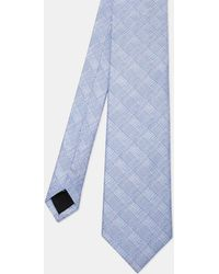 Ted Baker - Checked Silk Tie - Lyst