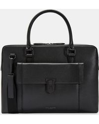 Ted Baker - Shomo Colored Leather Document Bag - Lyst