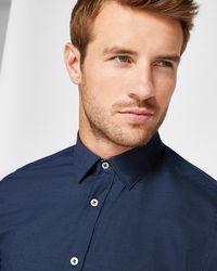 Ted Baker - Micro Dot Print Cotton Shirt - Lyst