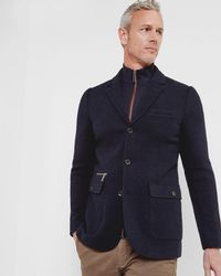 Ted Baker - Funnel Neck Jersey Jacket - Lyst