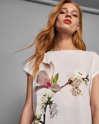 Ted Baker - Harmony Woven T-shirt - Lyst