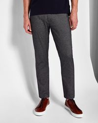 Ted Baker - Slim Fit Textured Cotton Trousers - Lyst