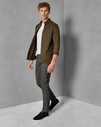 Ted Baker - Slim Fit Checked Trousers - Lyst