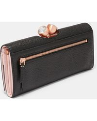 Ted Baker - Textured Leather Bobble Matinee Purse - Lyst