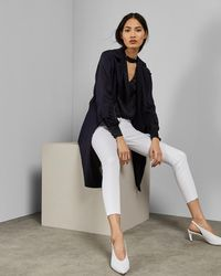 Ted Baker - Uneven Raw Hem Skinny Jeans - Lyst