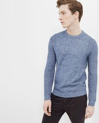 Ted Baker - Debut Textured Crew Neck Jumper - Lyst