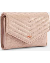 d250f0bee49527 Ted Baker - Quilted Envelope Leather Purse - Lyst