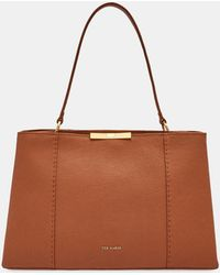 d44248ee4 Lyst - Ted Baker Leather Mini Tote Bag in Brown