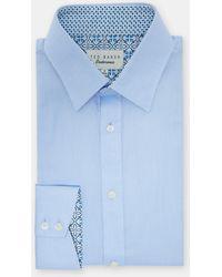Ted Baker - Diamond Dobby Cotton Shirt - Lyst