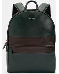 Ted Baker - Vivaldi Striped Leather Backpack - Lyst