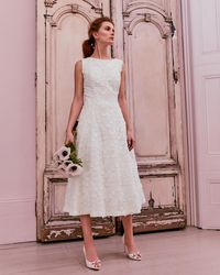 Ted Baker - Lace Applique Midi Dress - Lyst