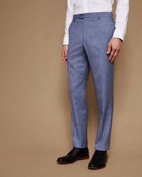Ted Baker - Debonair Plain Wool Trousers - Lyst