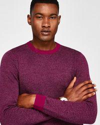 Ted Baker - Cinamon Interest Stitch Wool-blend Jumper - Lyst