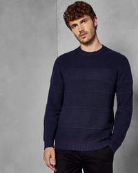 Ted Baker - Textured Crew Neck - Lyst