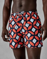 Ted Baker - Large Geo Print Swim Shorts - Lyst
