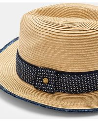 Lyst - Ted Baker Madhatt Straw Trilby in Natural for Men b9c7c68e4d7a