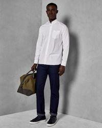 Ted Baker - Original Fit Printed Hem Jeans - Lyst