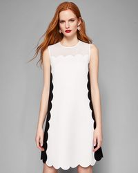 Ted Baker - Scalloped Mesh Detail Tunic Dress - Lyst
