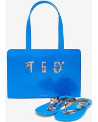 Ted Baker - Harmony Icon Bag And Flip Flop Set - Lyst
