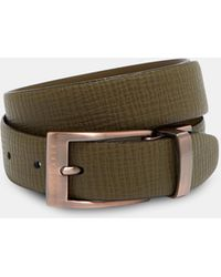 Ted Baker - Reversible Buckle Leather Belt - Lyst