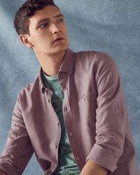 Ted Baker - Cotton And Linen-blend Shirt - Lyst