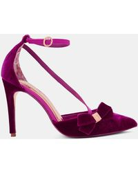 Ted Baker - Strap Detail Bow Heels - Lyst