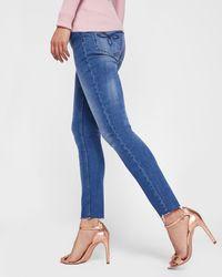 Ted Baker - Mid-wash Raw Hem Skinny Jeans - Lyst