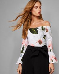Ted Baker - Chatsworth Bloom Bell Sleeved Top - Lyst