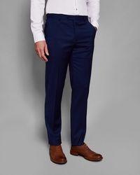 Ted Baker - Debonair Plain Wool Suit Trousers - Lyst