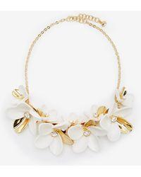 Ted Baker - Swarovski Crystal Statement Floral Necklace - Lyst