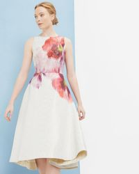 Ted Baker - Expressive Pansy Jacquard Dress - Lyst