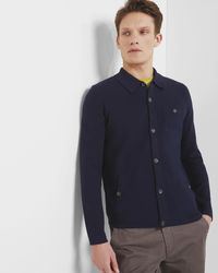 Ted Baker - Collared Cardigan - Lyst
