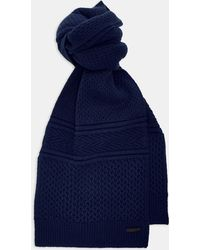 Ted Baker - Blueberry Textured Wool-blend Scarf - Lyst
