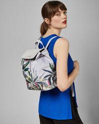 6a5e6a6a5 Ted Baker Oriental Blossom Backpack in Gray - Lyst