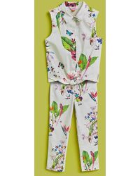 Ted Baker - Cotton Top And Leggings Set - Lyst