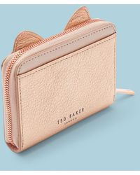 Ted Baker - Cat Whiskers Small Leather Zip Purse - Lyst