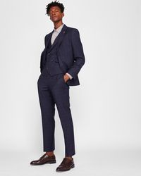 Ted Baker - Sterling Checked Wool Waistcoat - Lyst
