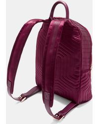 Ted Baker - Quilted Bow Nylon Backpack - Lyst
