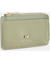 4ab3f855d27 Ted Baker Lori Leather Zipped Card Holder in Pink - Lyst