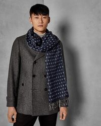Ted Baker - Diamond Pattern Scarf - Lyst